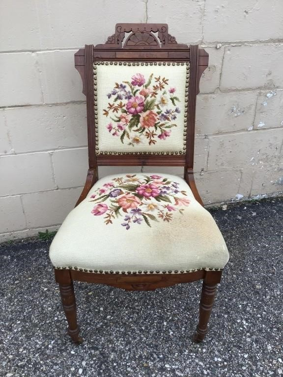 Marvelous Victorian Accent Chair Midland Bid Junkies Creativecarmelina Interior Chair Design Creativecarmelinacom