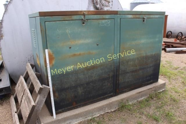 [WQZT_9871]  Large Fuse Box Container with cement | Meyer Auction Service | Large Fuse Box |  | Meyer Auction Service