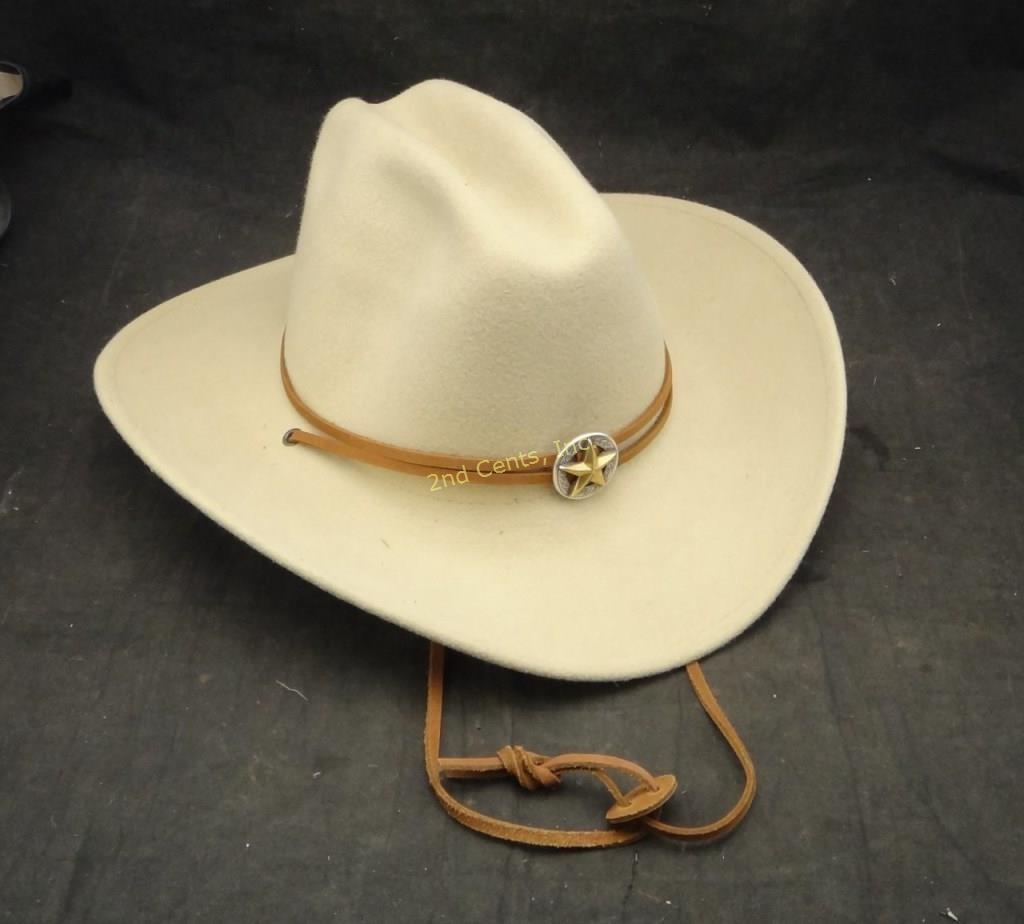 5a1089eeca1689 Wrangler Riata Cowboy Hat Large Wool | 2nd Cents Inc