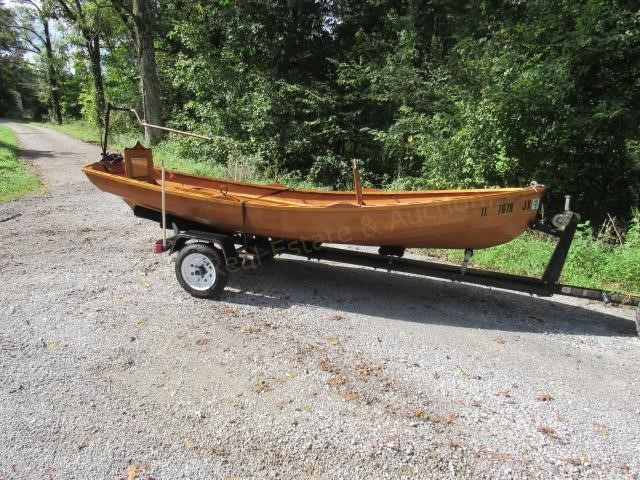 Wineglass Wherry Wooden Boat 14 Ft Handcrafted Joe Ollis Auction