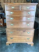Vintage Wood 7 drawer dresser