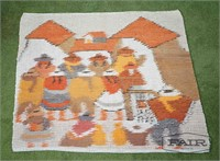 South American woven tapestry