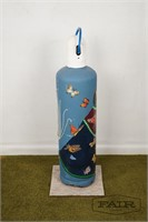 Hand painted oxygen tank by Ann Williams