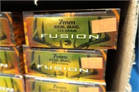 10- Boxes Fusion 7mm REM Mag 175-grain | Hessney Auction Co