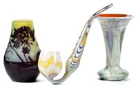 From a selection of European and American art glass.