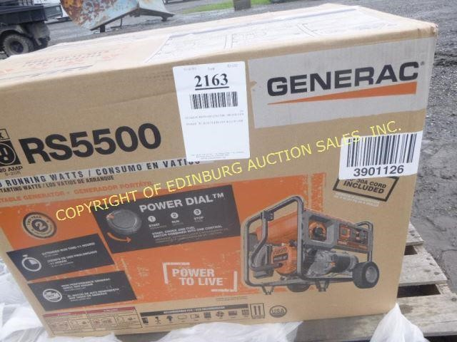 GENERAC RS500 GENERATOR - BRAND NEW | Edinburg Auction Sales