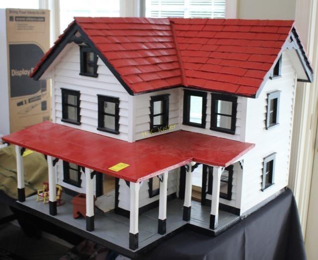 Vintage Wooden Doll House H K Keller
