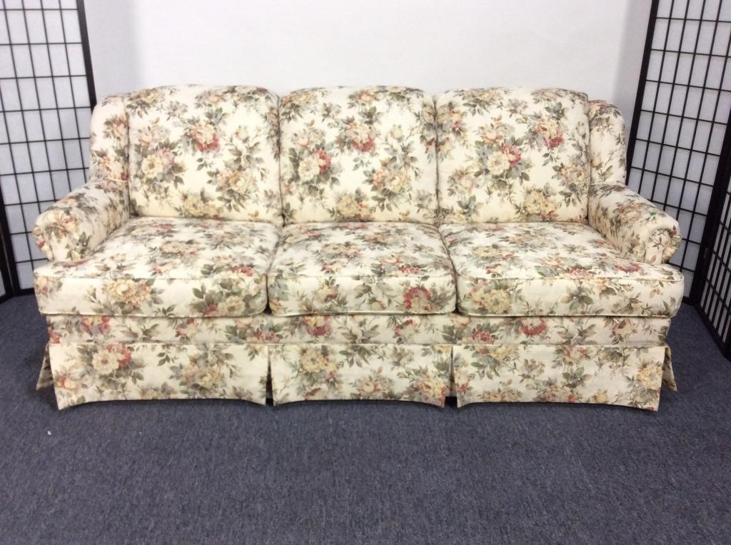 Lazy Boy England Floral Sofa | Dangerfield Auctions, LLC