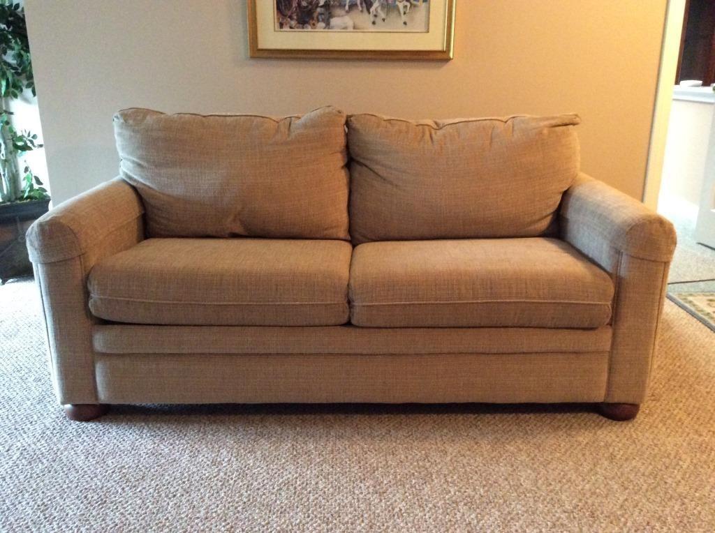La Z Boy Tan Sleeper Sofa | Dangerfield Auctions, LLC