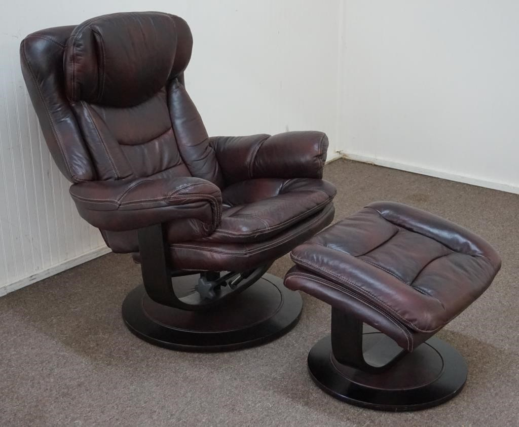 Cool Lane Leather Swivel Recliner And Ottoman Asset Marketing Evergreenethics Interior Chair Design Evergreenethicsorg