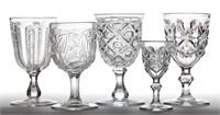 Fine collection of flint EAPG goblets