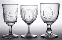 Many rare non-flint EAPG goblets inlcuding the first Panelled Cardinal that we have sold - Winfrey Collection