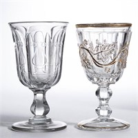Rare Harp and Sandwich Vine goblets - Winfrey Collection