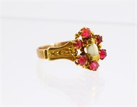 9k Gold Victorian Ring w/Baby Tooth