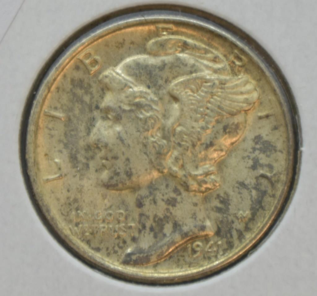 1941 D MERCURY DIME GEM FULL BANDS | JD's Auctions