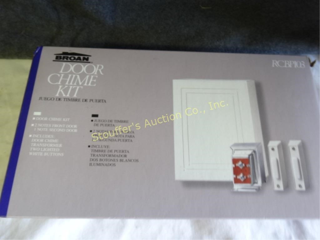 Broan door chime kit new in box | Stouffer's Auction Co , Inc