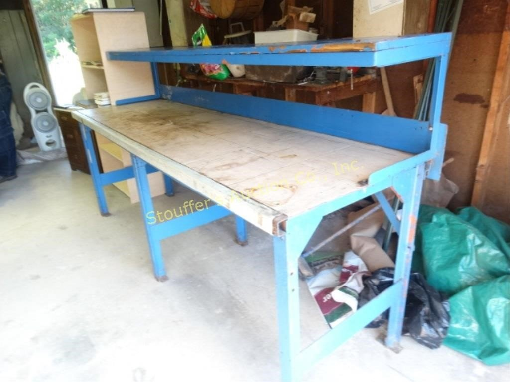 Enjoyable Heavy Duty Workbench With Shelf 8 L X 29 W X Stouffers Ocoug Best Dining Table And Chair Ideas Images Ocougorg