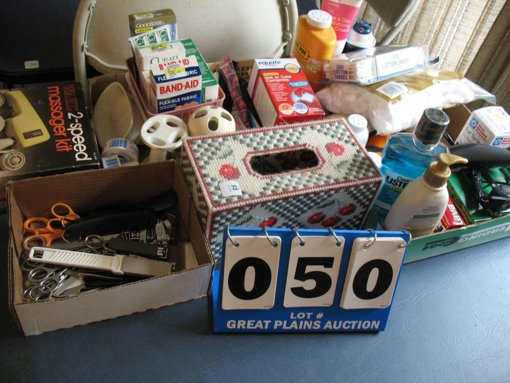 Lot of Assorted First Aid and Bathroom Items   United Country-Great