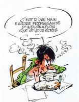 Gaston. Illustration originale