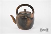 Ethiopian clay teapot