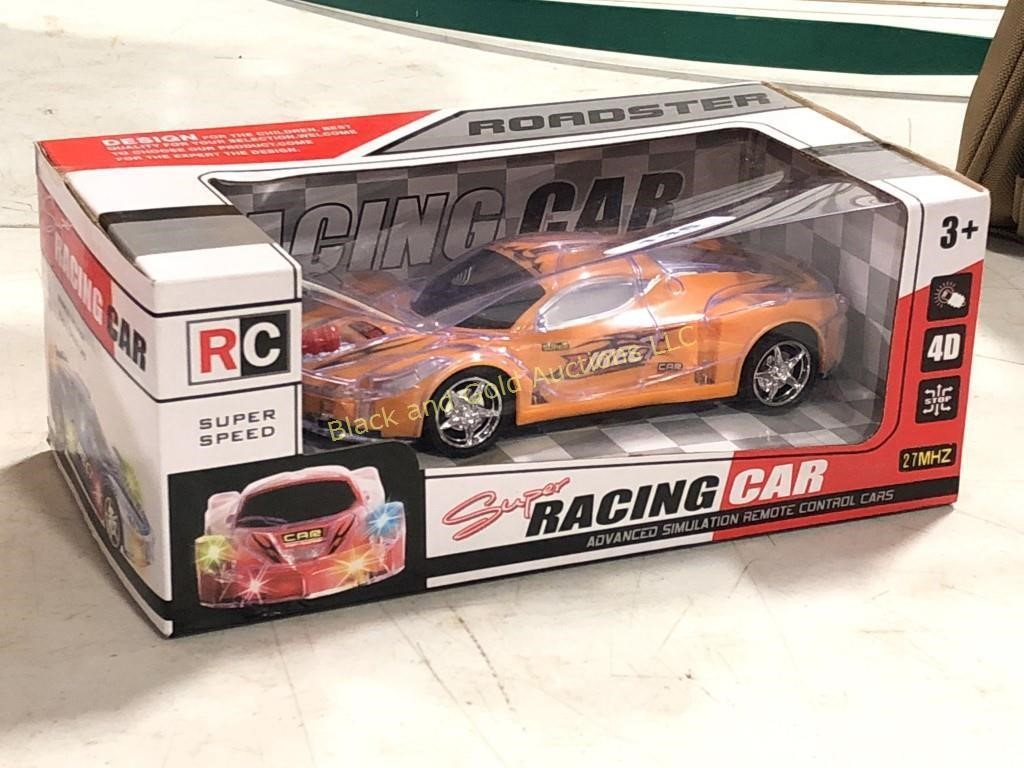 New In Box Rc Super Racing Car Black And Gold Auctions Llc
