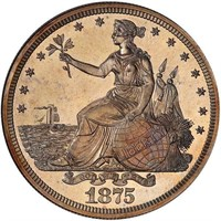 $1 1875 J-1426. PCGS PR65 CAC