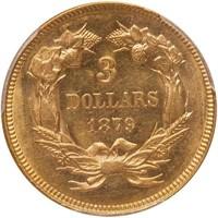 $3 1879 PCGS MS63