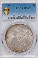 $1 1892 PCGS MS66