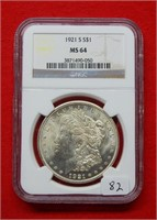 Online Only SLABBED  Coin Auction 9-2-18