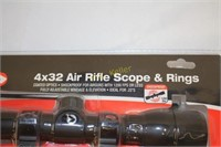 Gamo 4x32 Air Rifle Scope and Rings, Shockproof | H  K  Keller