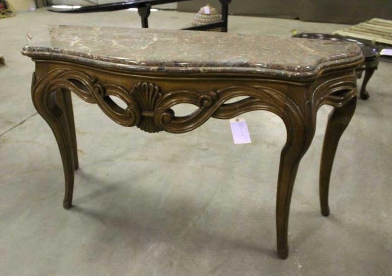 Henredon Sofa Table w/Granite Top | Smith Sales LLC