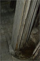 Grouping of old rough cut lumber, interesting