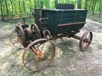 John Deere tractor & Hit & Miss orchard sprayer