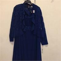 R&M RICHARDS WOMEN'S 2PC DRESS 18W