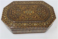 "Inlaid hinged lid box 13 X 8 X 3.25""H"