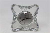 """Mikasa crytal quartz table top clock 4.75 X 7.75"""""""