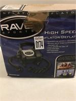 RAVE SPORTS INFLATOR/DEFLATOR