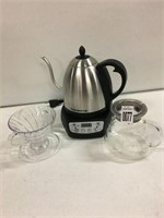 TEA POT WITH ACCESSORIES