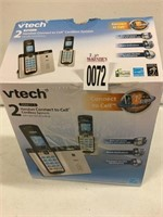 VTECK 2 HANDSET CONNECT TO CELL CORD LESS SYSTEM