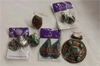 Nepal Hand Crafted jewellery silver coated