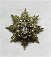 Costume jewellery rhinestone brooch