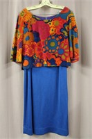 Vintage full lenght skirt and velour crop top