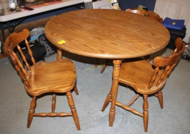 Peachy Round Dining Table With 4 Chairs H K Keller Unemploymentrelief Wooden Chair Designs For Living Room Unemploymentrelieforg