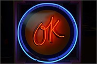 Neon OK Sign Lot 1