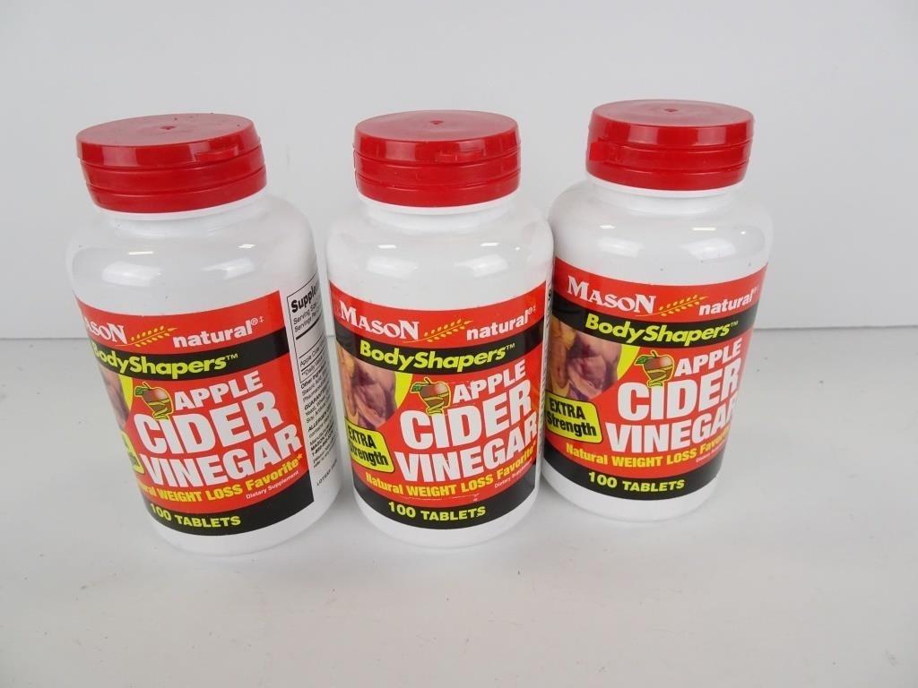Three Bottles of Apple Cider Vinegar Weight Loss | Dugan, INC