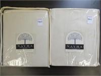 (2) NAYHA TEXTILES GROMMET VALANCE CREAM 60 X 16