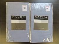 (2) NAYHA TEXTILES ONE VALANCE BLUE SIZE 80 X 38