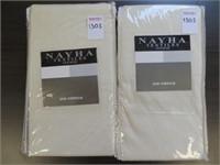 (2) NAYHA TEXTILES ONE VALANCE CREAM SIZE 80 X 16