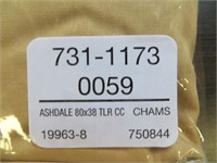 (2) NAYHA TEXTILES ONE VALANCE CHAMP. SIZE 80 X 38