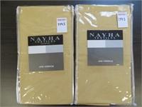 (2) NAYHA TEXTILES ONE VALANCE WHEAT SIZE 80 X 11